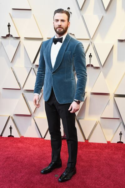 Chris Evans in Ferragamo (Courtesy of Ferragamo)