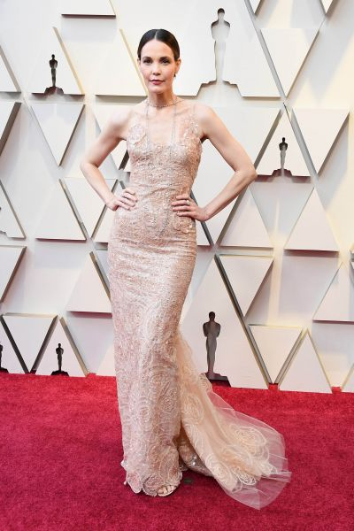 Leslie Bibb in Armani (Getty, Courtesy of Armani)