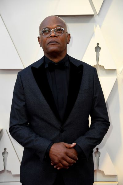Samuel L. Jackson in Armani (Getty, Courtesy of Armani)