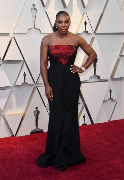 Serena Williams in Armani (Getty, Courtesy of Armani)