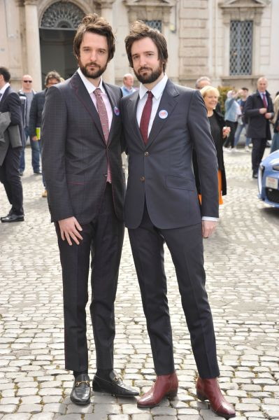 Fabio e Damiano D'Innocenzo in Gucci (ph. Getty Images)