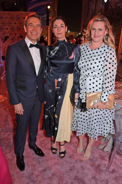 Jeff Koons, Mary McCartney e Justine Wheeler Koons