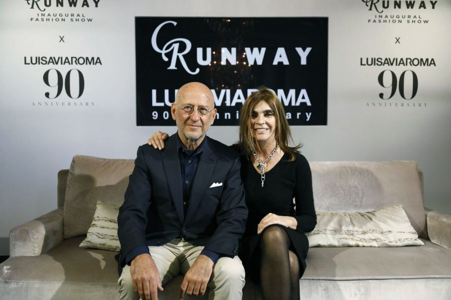 Andrea Panconesi e Carine Roitfeld (ph. Getty Images. Courtesy of LuisaViaRoma)