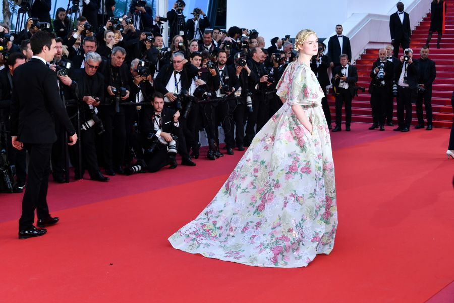 Elle Fanning in Valentino Haute Couture