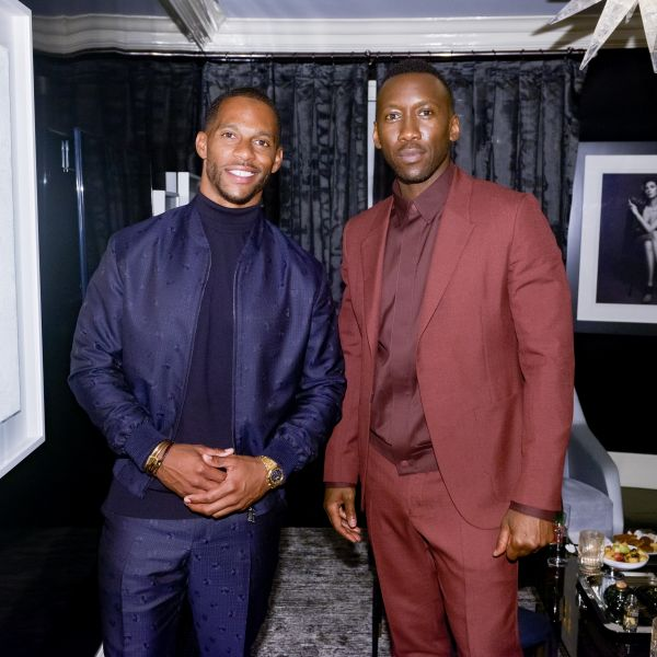 Victor Cruz and  Mahershala Ali in New York