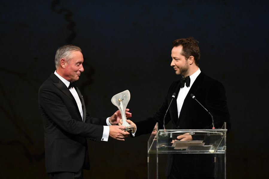 The Gcfa award for Technology and Innovation: Derek Blasberg ha premiato Walter Perretti e Massimo Neresini, presidente e ceo di Sicit