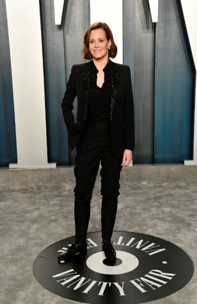 Sigourney Weaver in Saint Laurent by Anthony Vaccarello