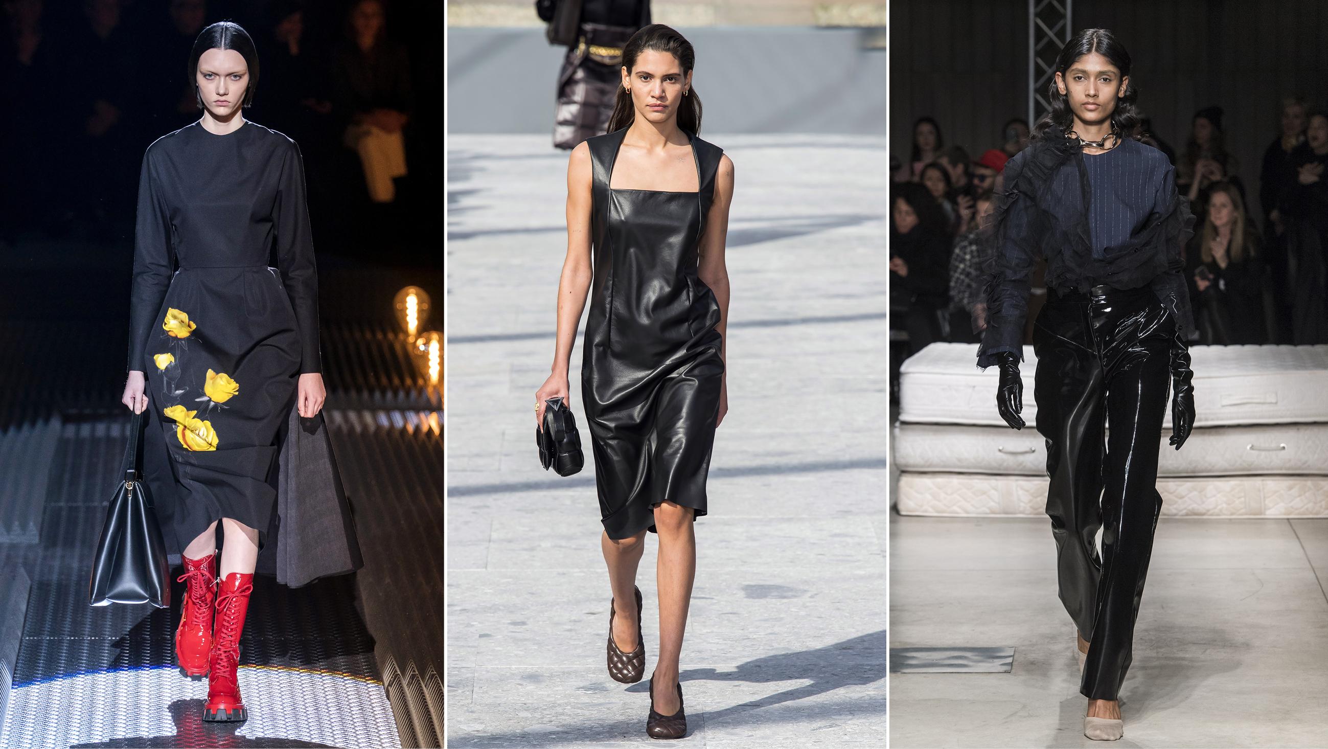 I buyer a Milano Moda Donna   Bottega Veneta e Prada mescolano  grunge-glam-minimal e vincono c333319b9e9